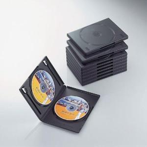 【納期目安:02/24入荷予定】エレコム CCD-DVD06BK DVDトールケース 両面収納(10枚パック・ブラック) (CCDDVD06BK)|tantanplus
