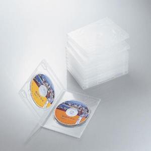 エレコム CCD-DVD06CR DVDトールケース 両面収納(10枚パック・クリア) (CCDDVD06CR)|tantanplus