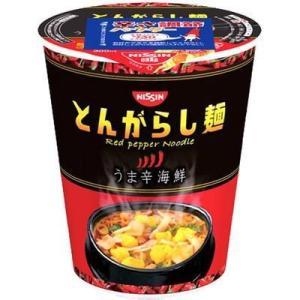 日清食品 E453721H 【ケース販売】日清のとんがらし麺 うま辛海鮮 64g×12個|tantanplus
