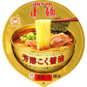 東洋水産 E478661H 【ケース販売】マルちゃん正麺 カップ 芳醇こく醤油 111g×12個