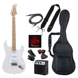 LIGHT 4534853537643 PhotoGenic エレキギター 初心者入門ライトセット ストラトキャスタータイプ ST-180M/WH ホワイト|tantanplus