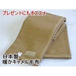 ds-536862 日本製 暖かキャメル毛布 シングルブラウン (ds536862)