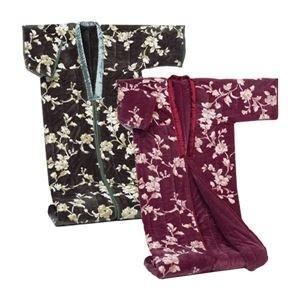ds-1569631 綿入りかいまき毛布【2色組み】 テイジンRウォーマルR使用マイヤー2枚合せ 幅140cm×長さ200cm (ds1569631)