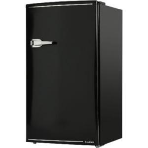 エスキュービズム WRD-1085K 85L 1ドア レトロ 冷蔵庫 (ブラック) (WRD1085K)|tantanplus