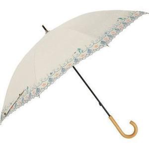 ディズニー FF-02886 長傘 日傘/晴雨兼用 刺繍パラソル リトルマーメイド(ホワイト) 8本骨 50cm (FF02886)|tantanplus
