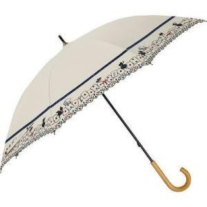 ディズニー FF-02888 長傘 日傘/晴雨兼用 刺繍パラソル 不思議の国のアリス(ホワイト) 8本骨 50cm (FF02888)|tantanplus