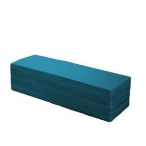 ds-2165872 アキレス 6つ折り マットレス/寝具 【SSS スモールセミシングルサイズ】 幅60×長さ180cm 薄型 厚み40mm 高密度ウレタンフォーム 藍色|tantanplus