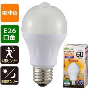 オーム電機 LDA8L-HR21 【消灯お知らせ機能搭載】LED電球(60形相当/870lm/電球色/E26/人感・明暗センサー付) (LDA8LHR21)|tantanplus