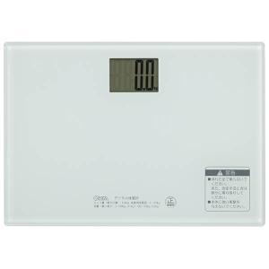 オーム電機 HBK-T101-W デジタル体重計(ホワイト) (HBKT101W)|tantanplus