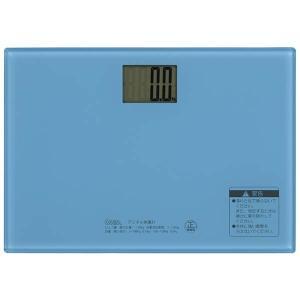 オーム電機 HBK-T101-A デジタル体重計(ブルー) (HBKT101A)|tantanplus