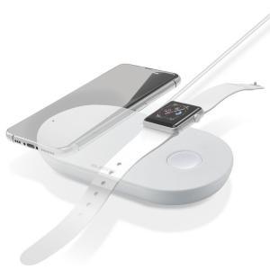 【納期目安:02/17入荷予定】エレコム W-QA12WH ワイヤレス充電器 Qi規格対応 5W iPhone 2台同時充電 ホワイト (WQA12WH)|tantanplus