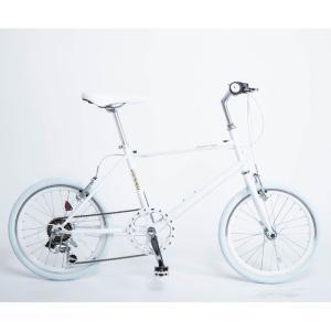 21Technology 4562320213172 ミニベロ 20インチクロスバイク(6段変速付き) (CL206-ホワイト)|tantanplus