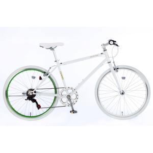21Technology 4562320219051 26インチ クロスバイク(6段変速付き)泥除けなし、ディレイラーガード無し (CL266-G-ホワイトグリーン)|tantanplus