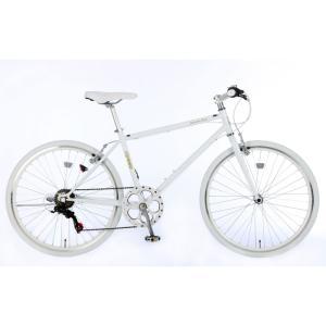 21Technology 4562320219020 26インチ クロスバイク(6段変速付き)泥除けなし、ディレイラーガード無し (CL266-G-ホワイト)|tantanplus