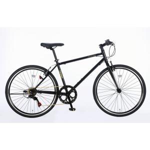 21Technology 4562320219013 26インチ クロスバイク(6段変速付き)泥除けなし、ディレイラーガード無し (CL266-G-マットブラック)|tantanplus