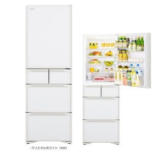 日立 R-S40K-XW 【日本製】401L 片開き5ドアSタイプ まんなか冷凍タイプ 冷蔵庫(クリスタルホワイト) (RS40KXW)|tantanplus