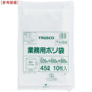 トラスコ中山 4989999291827 TRUSCO 業務用ポリ袋 厚み0.05X20L 10枚入 A0020