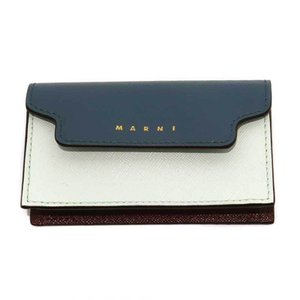 20AW MARNI VITELLO SAFFIANO BUSINESS CARD CASE マルニ 小物 サフィアーノ レザー ビジネス カード ケース 名刺入れ tantobazarshop