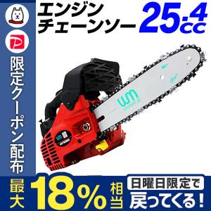 チェーンソー 小型 エンジン チェンソー 25.4cc コンパクトタイプ ガイドバー 工具付|tantobazarshop