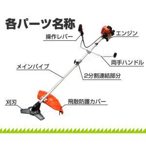 草刈機 エンジン式 草刈り機 刈払機 芝刈り機...の詳細画像4