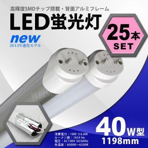 LED蛍光灯 40W形 直管 1200mm 昼光色 工事不要 簡単取り付け  省エネ 節電 経済的 25本セット tantobazarshop