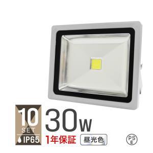LED投光器 30W 300W相当 省エネ LEDライト 防水 10個セット|tantobazarshop