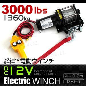 電動ウインチ 電動ホイスト 1361kg 3000LBS DC12V