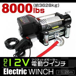 電動ウインチ 電動ホイスト DC12V 3629kg 8000LBS|tantobazarshop
