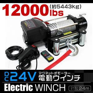 電動ウインチ 電動ホイスト 5444kg 12000LBS DC24V|tantobazarshop
