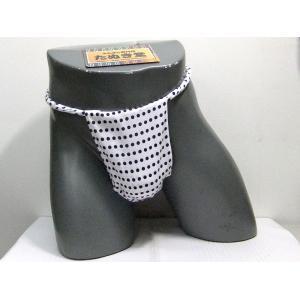 六尺ふんどし 豆絞り(紺玉) Lサイズ|tanukidou