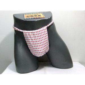 六尺ふんどし 豆絞り(赤玉) Lサイズ|tanukidou