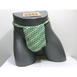 六尺ふんどし 麻の葉(緑) Lサイズ|tanukidou