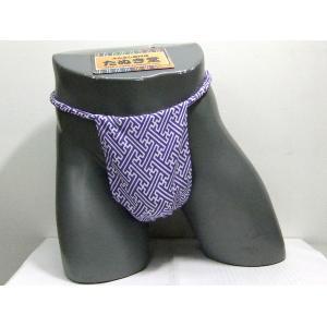 六尺ふんどし 紗綾型(薄紫) Lサイズ|tanukidou