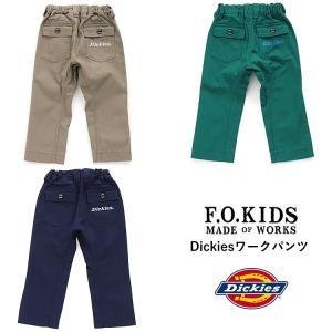 ■エフオーキッズ  Dickiesワークパンツ 10分丈  F.O.KIDSからディッキーズコラボの...