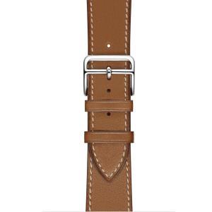 iFormosa Apple Watch 42mm ケース用 バンド 本革 ブラウン|taobaonotatsujinpro