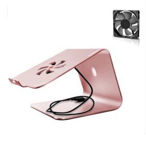 iFormosa アルミ製 Macbook Air Pro Surface ノートパソコン クーラー 冷却台 タブレット スタンド ローズゴールド(ファンタイプ)|taobaonotatsujinpro