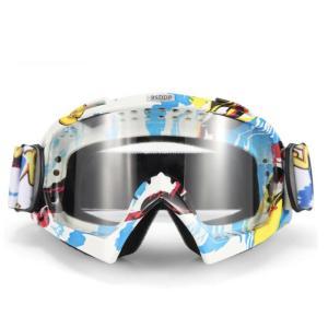 iFormosa バイク 防風メガネ スノボー スキー ソフト ゴーグルメガネ 透明レンズ 青枠 IF-GG-A014W|taobaonotatsujinpro