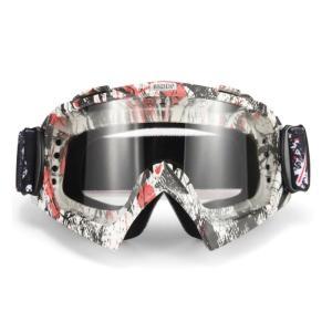 iFormosa バイク 防風メガネ スノボー スキー ソフト ゴーグルメガネ 透明レンズ グレー枠 IF-GG-A016W|taobaonotatsujinpro