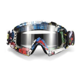 iFormosa バイク 防風メガネ スノボー スキー ソフト ゴーグルメガネ 透明レンズ マルチ色枠 IF-GG-A018W|taobaonotatsujinpro