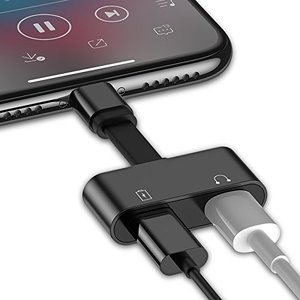 iFormosa 2 in 1 Lightning iPhone 充電 イヤホン 同時使用 アダプタ 黒 taobaonotatsujinpro
