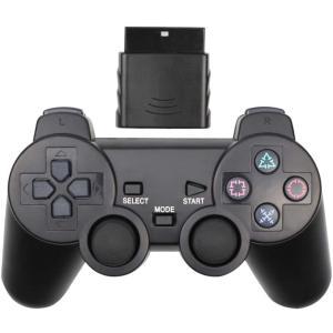 iFormosa PS2用 無線 ワイヤレス コントローラー と 受信機セット ブラック PS2 I...