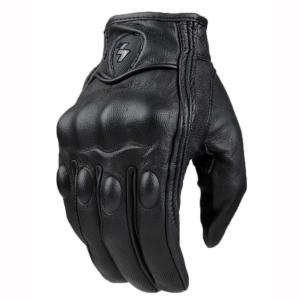 本革 ファッション バイクグローブ 手袋 黒 L|taobaonotatsujinpro