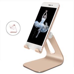 iFormosa アルミ製 スマートフォン スタンド 角度調整可能 ゴールド|taobaonotatsujinpro