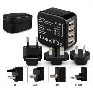 iFormosa ユニバーサル 海外 旅行 アダプター 変換 プラグ USB 2.1A 4ポート 1...