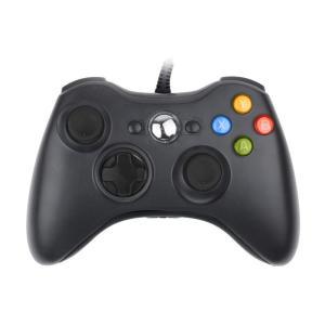 XBox 360 USB 有線 ゲームコントローラー 有線/Xbox/Windows対応 ブラック Xbox360 Controller for Windows IF-X360-WDC|taobaonotatsujinpro