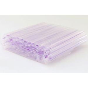 極太ストロー(赤色/紫ストライプ)1袋(50本入) タピオカ ドリンク用|tapiocaworld|02