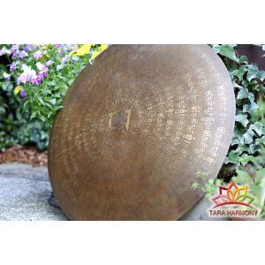 銅鑼(ドラ)54cm  ソルフェジオ周波数【396Hz】【417Hz】ダブル検出 [DR14002]|tara-harmony