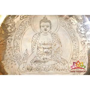 シンギングボウル 26cm 薬師如来(超美音)[HB160082-26A] シンギングボール セラピー ヨガ 瞑想|tara-harmony