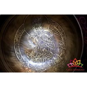 シンギングボウル 22cm ホワイトターラ(超美音) ソルフェジオ周波数174Hz,417Hz検出 [HB160131-22C] シンギングボール|tara-harmony