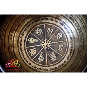 シンギングボウル 18cm マントラ(超美音)  [HB170210-18E] シンギングボール セラピー ヒーリング 癒し|tara-harmony